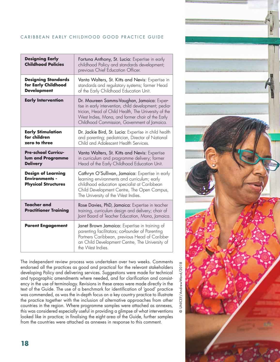 Caribbean Early Childhood Development Good Practice Guide By Caribbean Development Bank Issuu