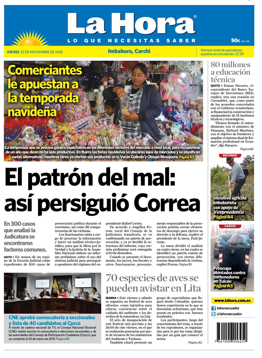 122cad33f Imbabura 22 de noviembre de 2018 by Diario La Hora Ecuador - issuu