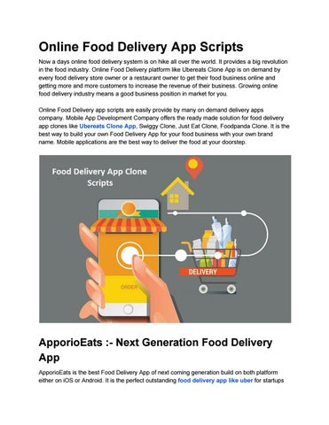Online Food Delivery App Scripts by Alice John - issuu