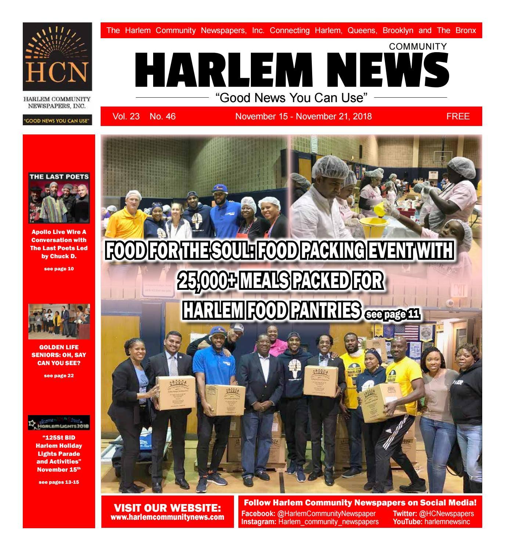 Harlem Community Newspapers   November 15, 2018 by Mike