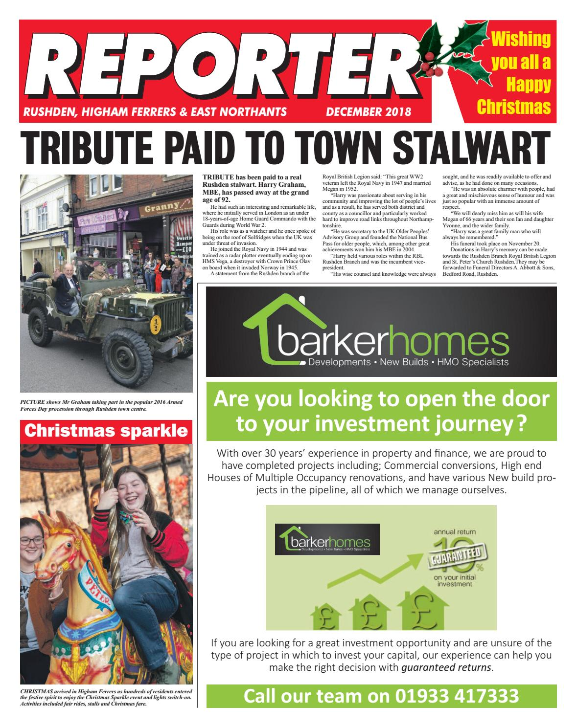 EAST NORTHANTS REPORTER DEC 18 by Rosetta Publishing issuu