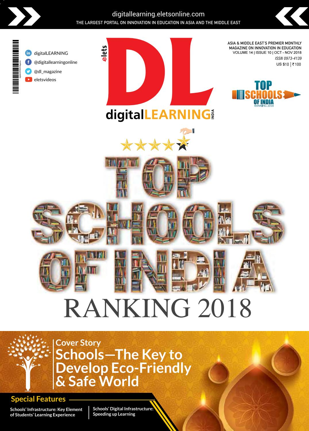 DigitalLEARNING Top Schools of India Ranking 2018 by digital