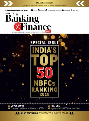Speacial Issue - India's Top 50 NBFCs' Ranking 2018 by