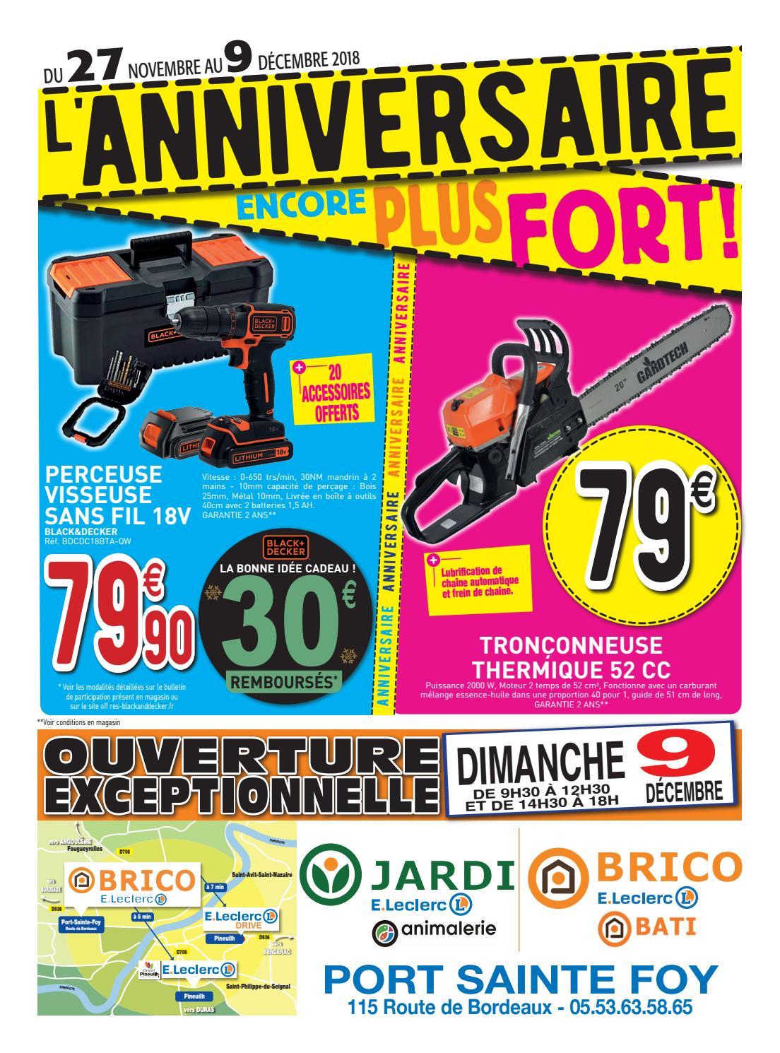 Anniversaire Brico Jardi De Port Sainte Foy By Centre