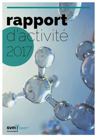 Rapport D Activite 2017 By Societe Vaudoise De Medecine Issuu