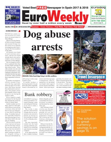 710656e821 Euro Weekly News - Axarquia 22-28 November 2018 Issue 1742. FREE Newspaper  in Spain ...