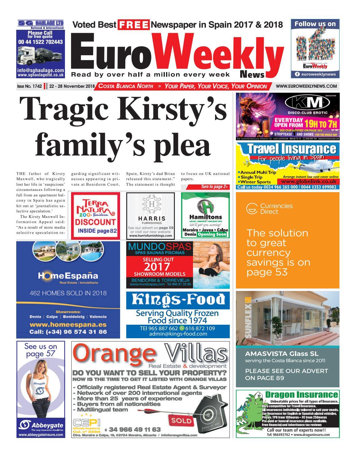 0b4a9bba479eb0 Euro Weekly News - Costa Blanca North 22-28 November 2018 Issue 1742 ...