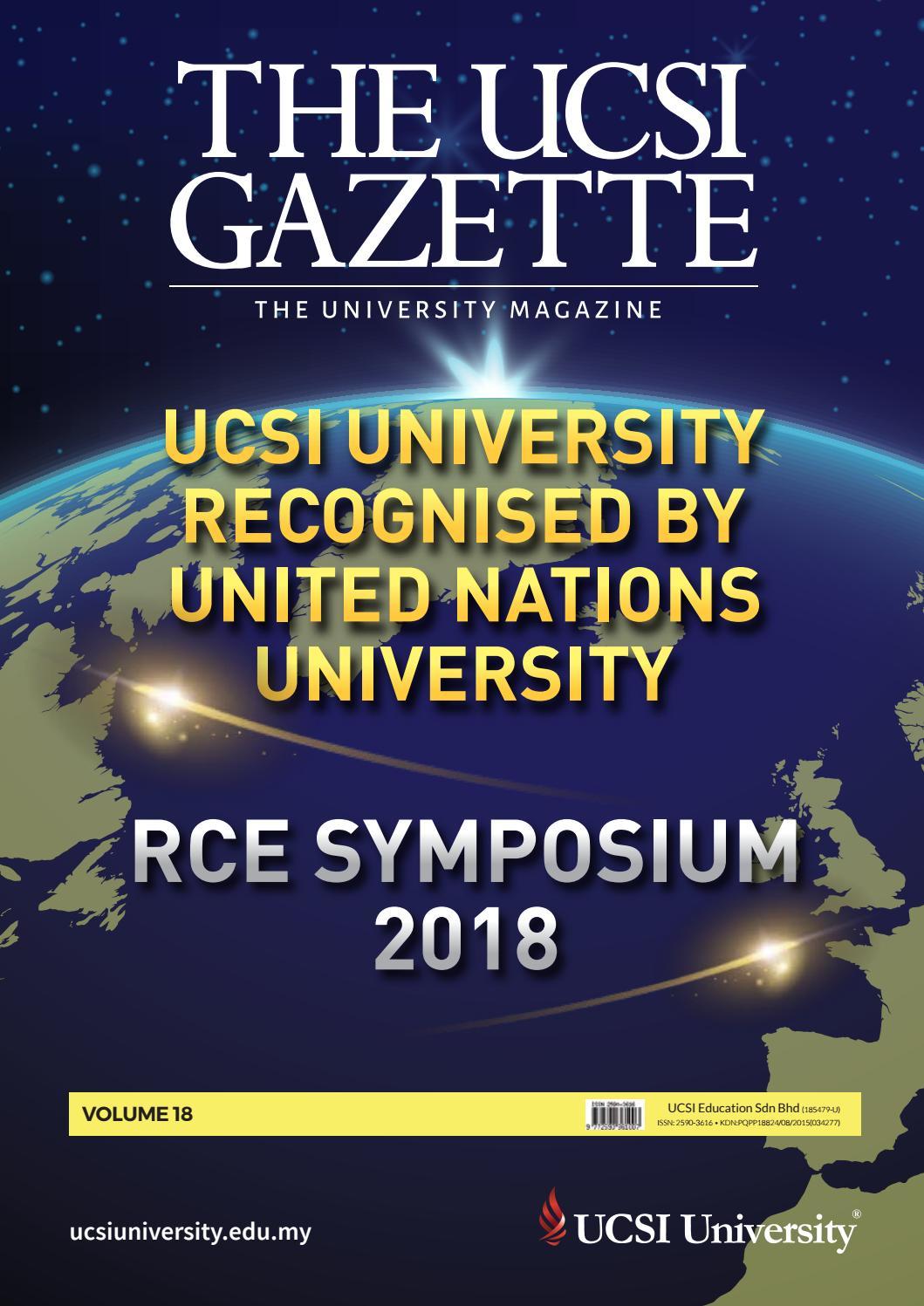 The Ucsi Gazette Vol 18 By Ucsi Gca Issuu