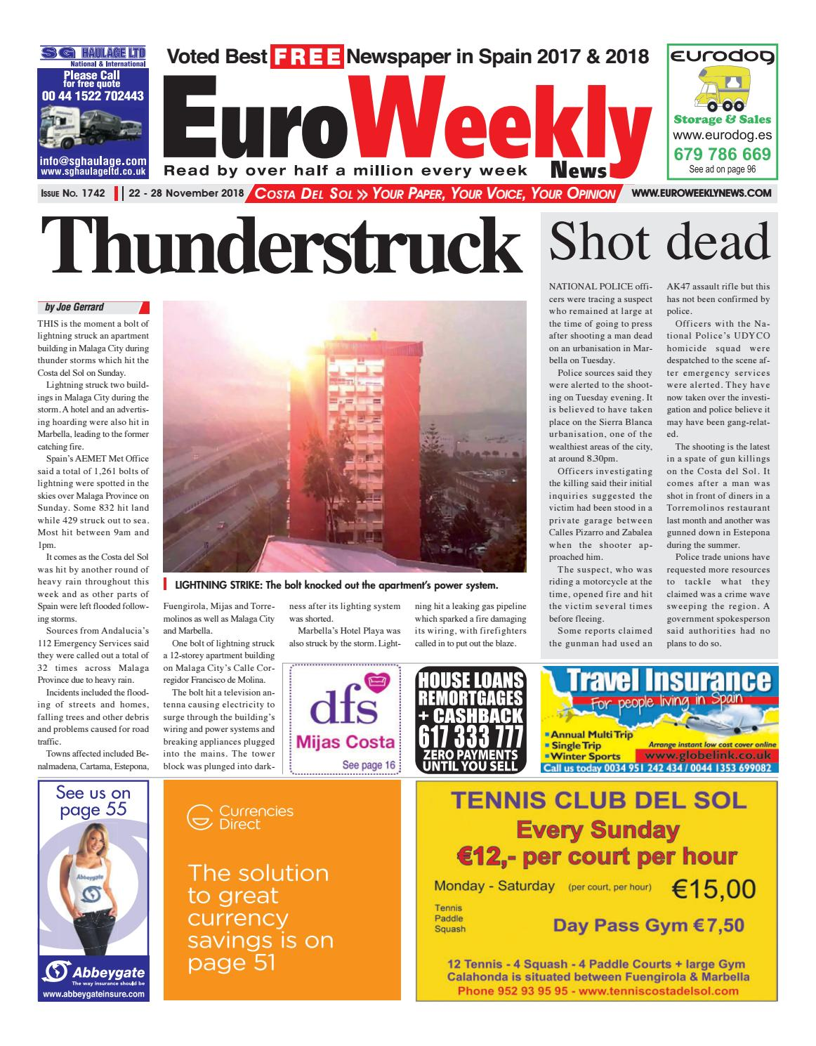 Euro Weekly News - Costa del Sol 22-28 November 2018 Issue 1742 by Euro  Weekly News Media S.A. - issuu 9e80e6703