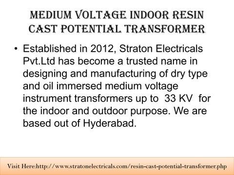 Medium Voltage Indoor Resin Cast Current Transformer