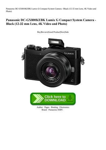 Panasonic DC-GX800KEBK Lumix G Compact System Camera - Black