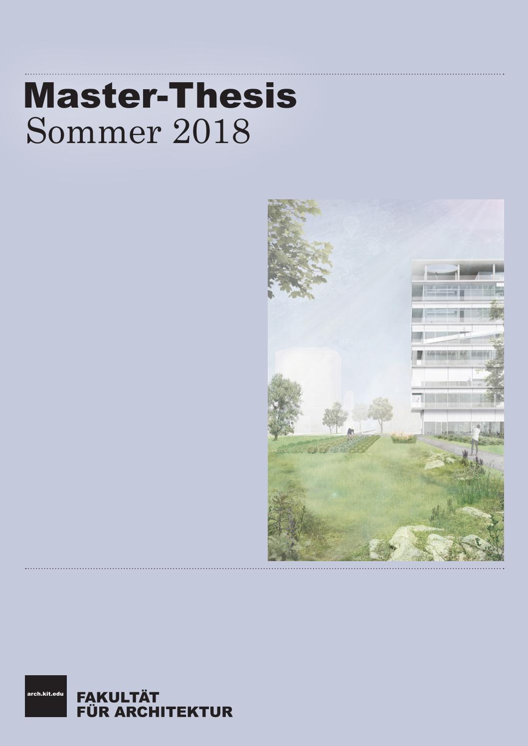 Dissertation architektur