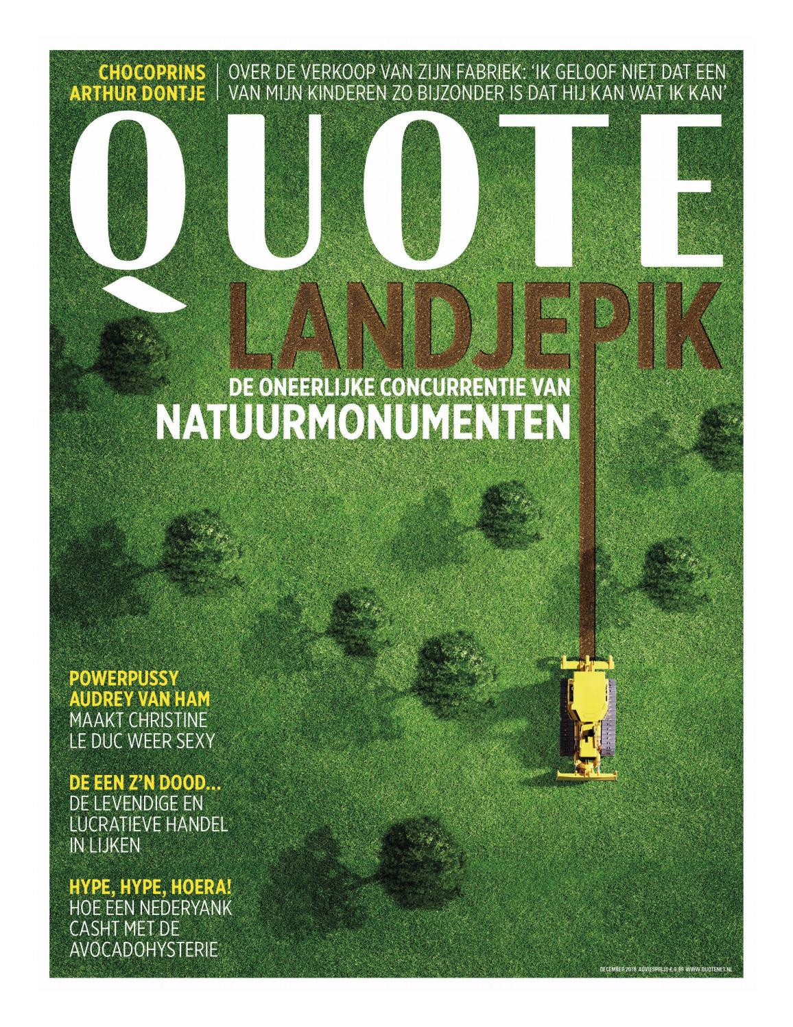 Quote December 2018 By Hearst Magazines Netherlands Bv Issuu