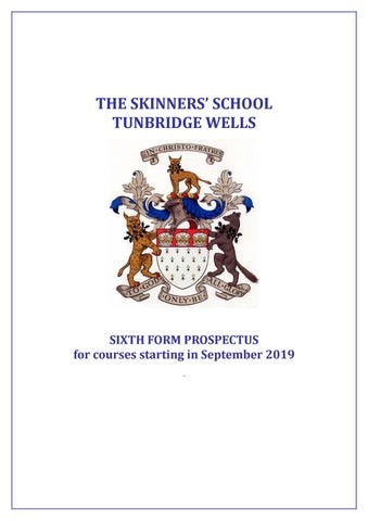 Sixth Form Options Booklet