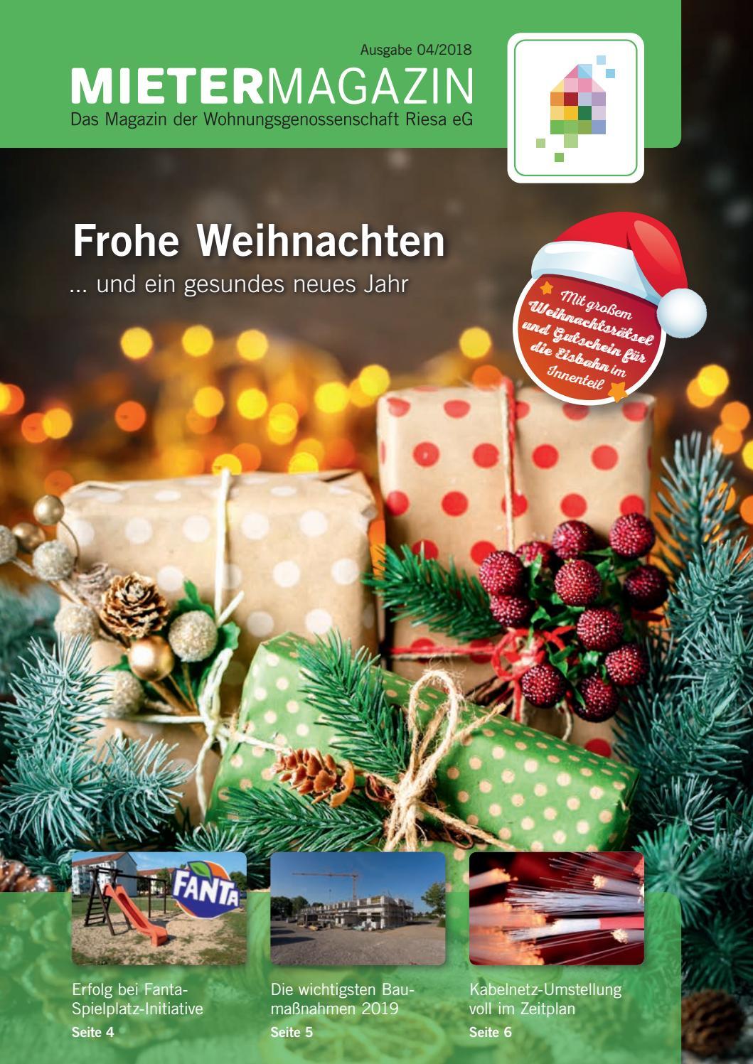 Mietermagazin Ausgabe 4/2018 by Wohnungsgenossenschaft Riesa eG - issuu