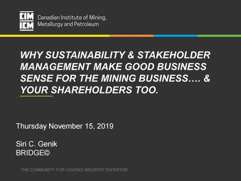 Why sustainability and stakeholder management makes good