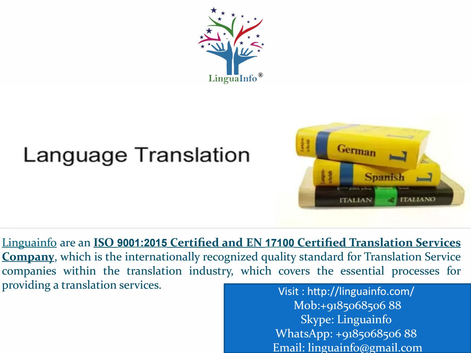 Best Language Translation Company In Delhi NCR India and