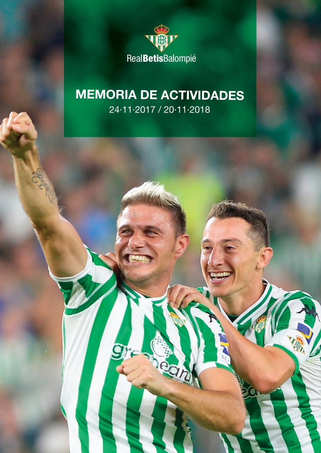 75ffda1f2e0 Descargar memoria de actividades 2017 2018 by Betisweb - issuu