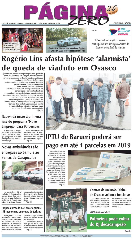 5d4e8952832 Página Zero Edição nº 1371 (23 11 2018) by Para acessar o seu Página Zero -  issuu