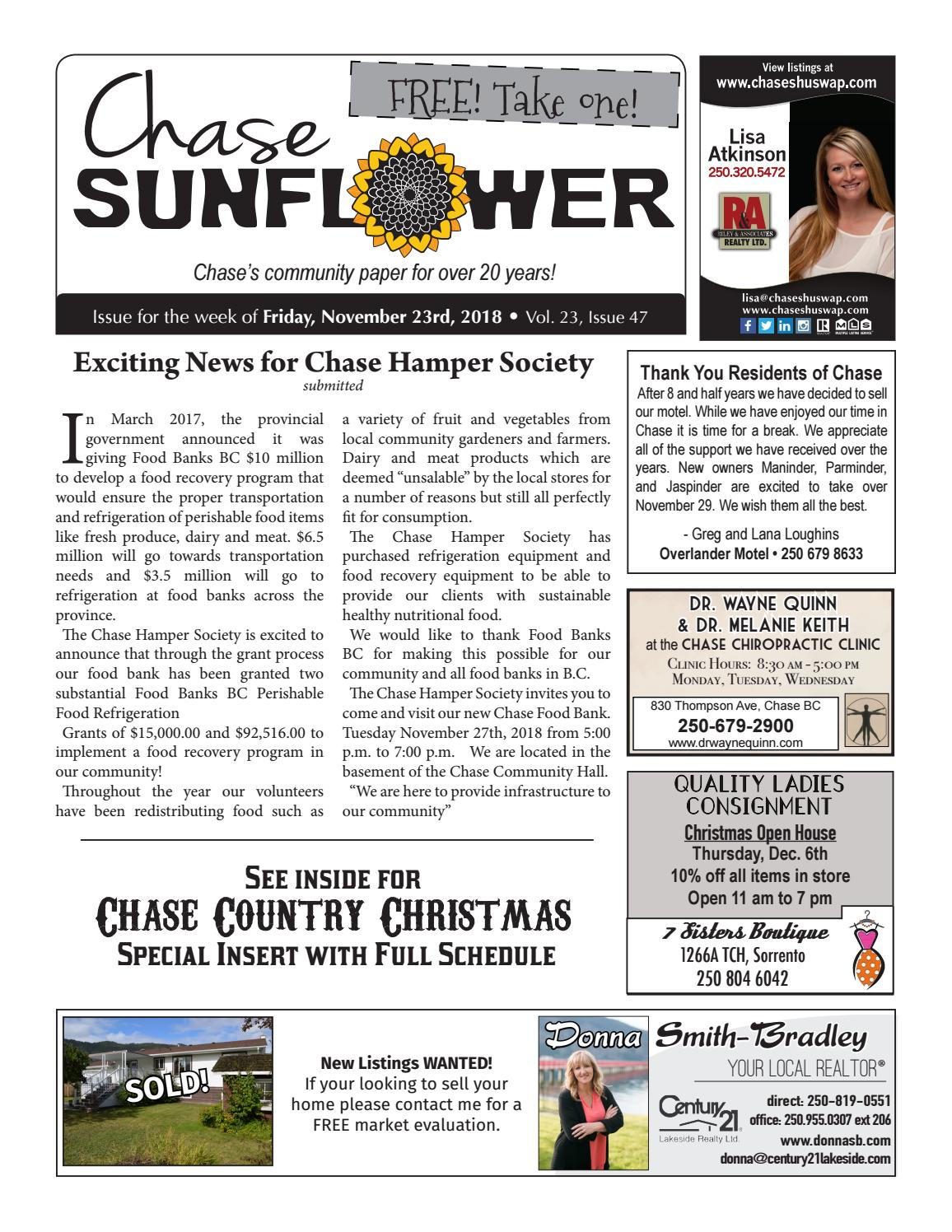 Chase Sunflower - November 23rd, 2018 with Chase Country Christmas ...