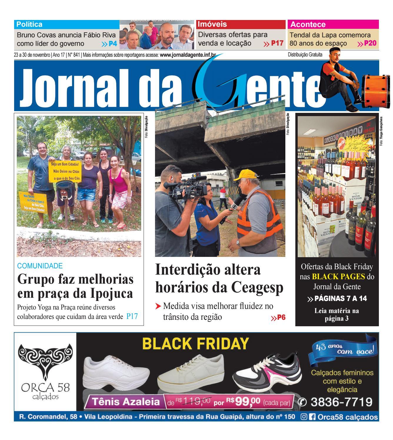 896c075757 Jornal da Gente - Edição 841 - 23 a 30 de novembro de 2018 by Página  Editora e Jornalismo - issuu