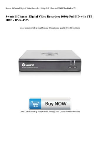 Swann 8 Channel Digital Video Recorder 1080p Full HD with 1TB HDD DVR-4575
