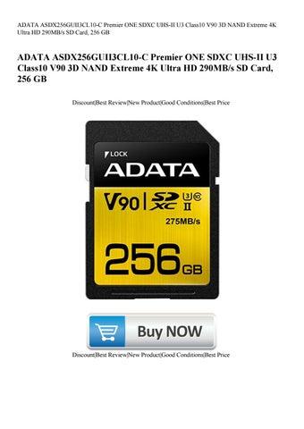 ADATA ASDX256GUII3CL10-C Premier ONE SDXC Class 10 UHS-II U3 V90