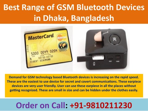 Best Range of GSM Bluetooth Earpiece Devices in Dhaka, Bangladesh by