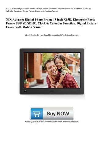 NIX Advance Digital Photo Frame 15 inch X15D. Electronic Photo Frame ...