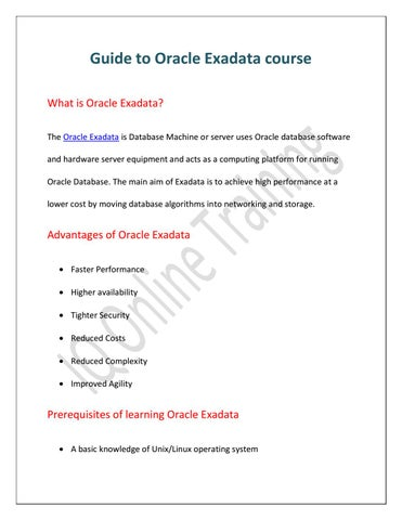 What is Oracle Exadata | who can learn this course by charlie