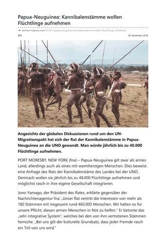 Papua Neuguinea Kannibalenstämme Wollen Flüchtlinge Aufnehmen By
