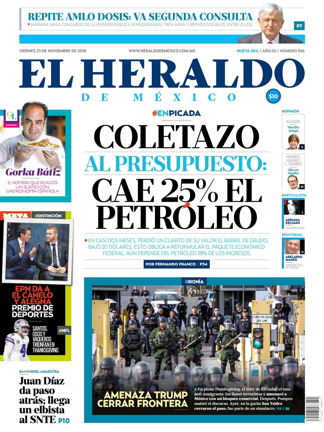 abe235b0f5 23 de noviembre de 2018 by El Heraldo de México - issuu