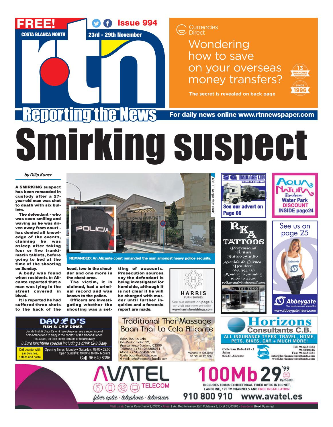 RTN Newspaper - Costa Blanca North 23-29November 2018 Issue