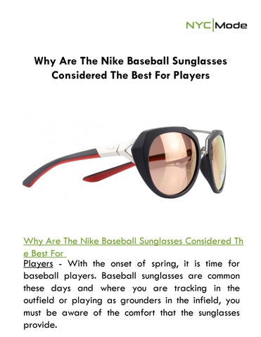 6b037b56902 Why Are The Nike Baseball Sunglasses Considered The Best For Players ...