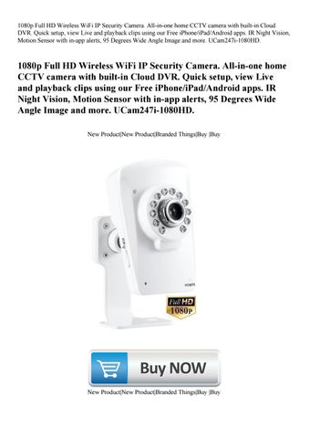 1080p Full HD Wireless WiFi IP Security Camera  All-in-one