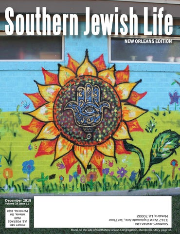 Sjl New Orleans December 2018 By Southern Jewish Life Issuu