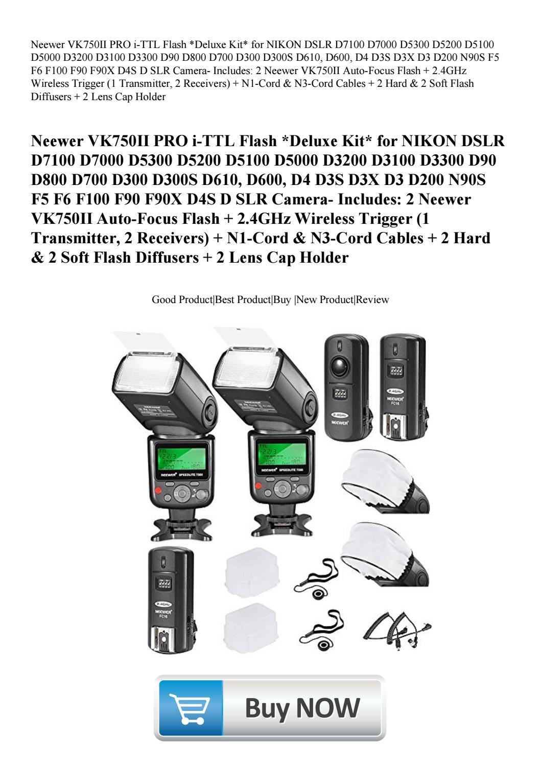 Neewer VK750II PRO i-TTL Flash Deluxe Kit for NIKON DSLR