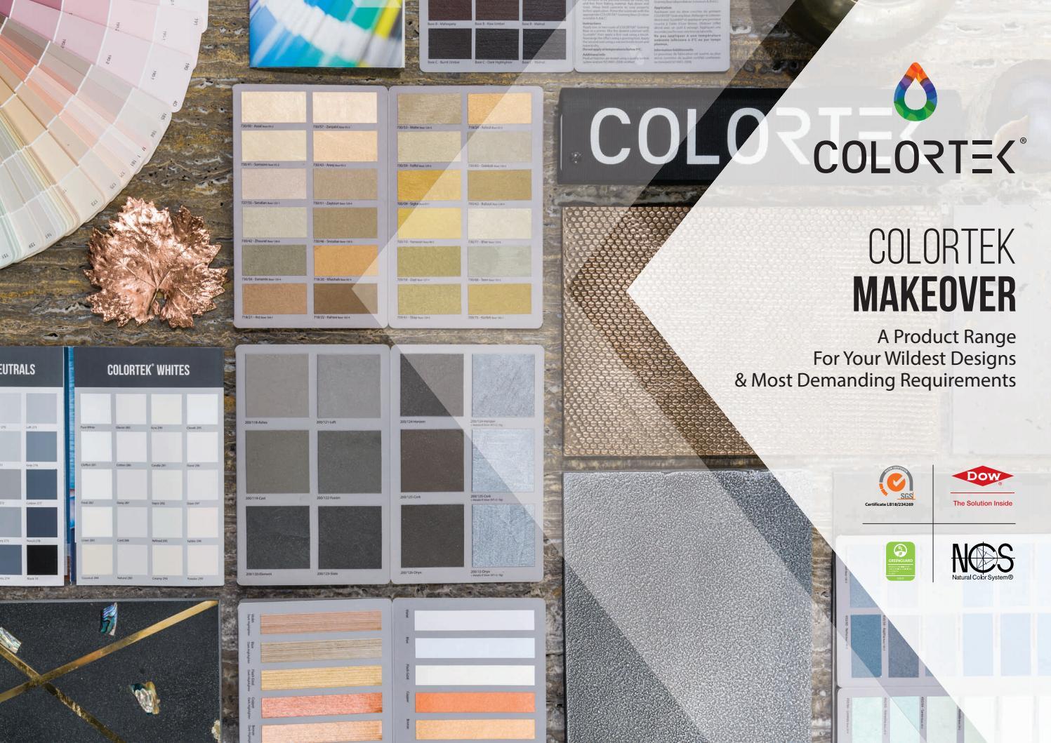 Colortek Makeover Catalogue by Colortek - issuu