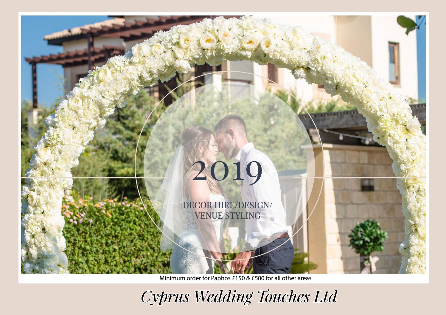 Cyprus Wedding Touches 2019 Decor Hire Brochure By