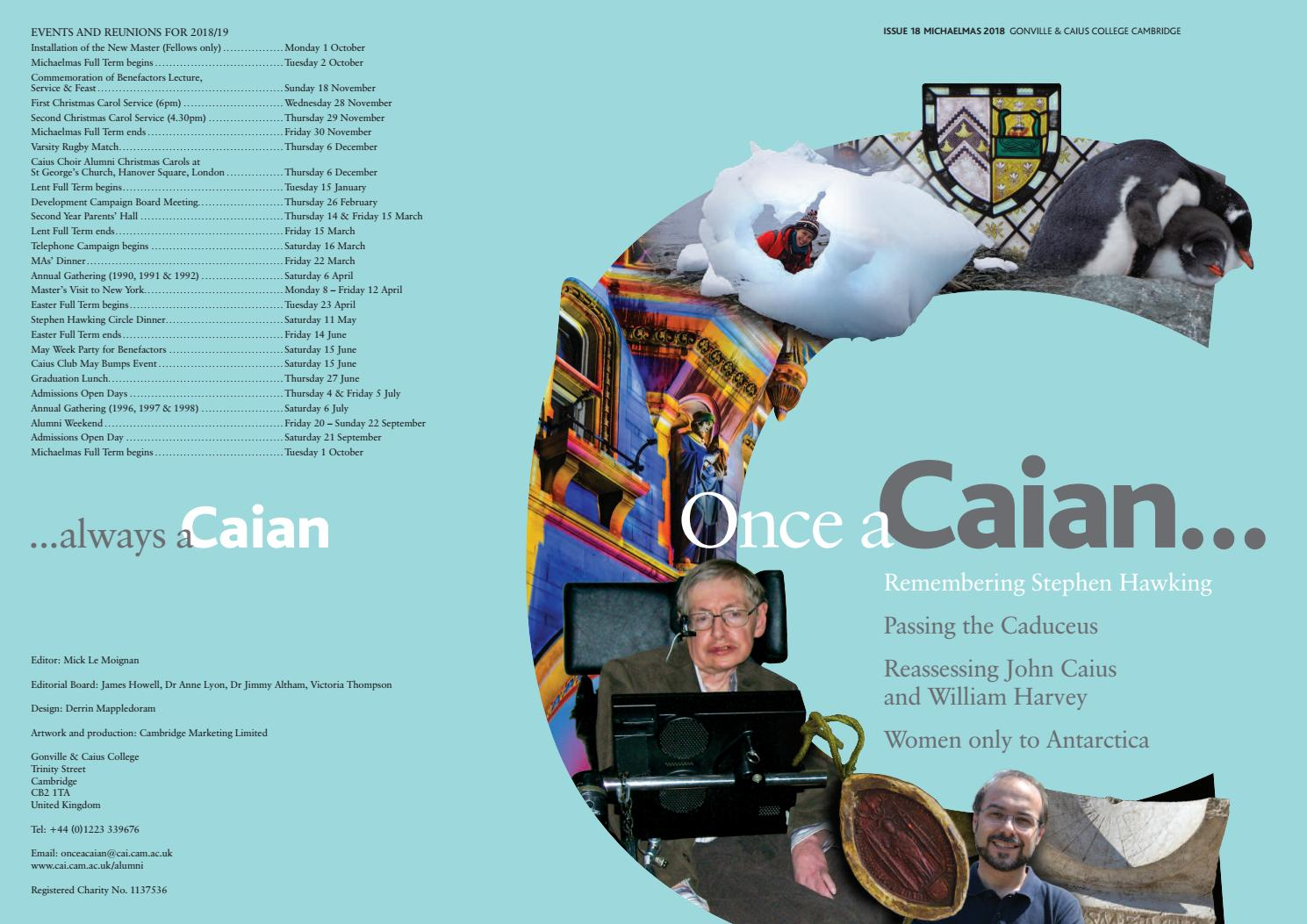 Once A Caian    Issue 18 by Gonville & Caius College - issuu