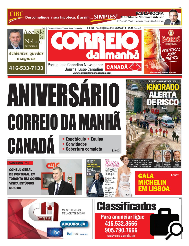 0f2abd52da0 Correio da Manhã Canadá 23 de novembro 2018 by Correio da Manhã Canadá -  issuu