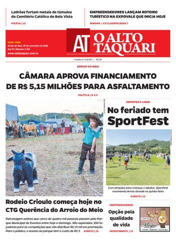 Jornal O Alto Taquari - 09 de novembro de 2018 by Jornal O Alto ... 179d429b153