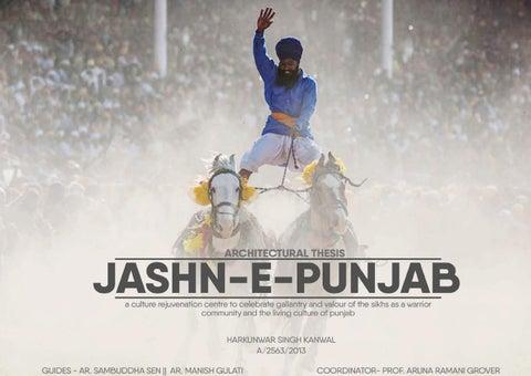 JASHN-e-PUNJAB, Architectural Thesis by Harkunwar Singh Kanwal - issuu
