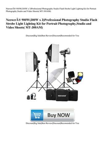 MT-300AM Professional Photography Studio Flash Strobe Light Lighting Kit for Portrait Photography,Studio and Video Shoots Neewer 900W 300W x 3