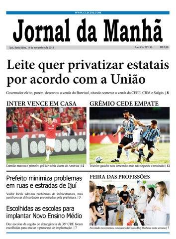 53476cdc7a Jornal da Manhã - Sexta-feira - 16-11-2018 by clicjm - issuu