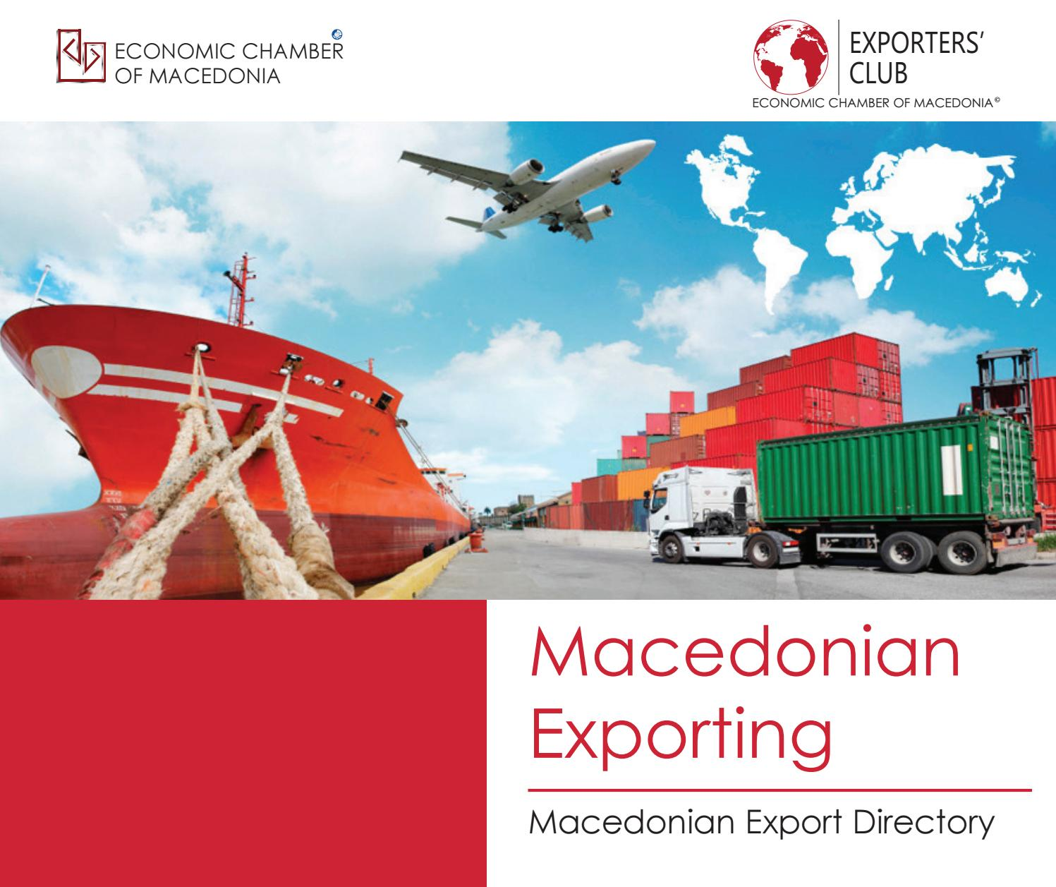 EXPORTERS CLUB - Macedonian Exporters Directory by Economic