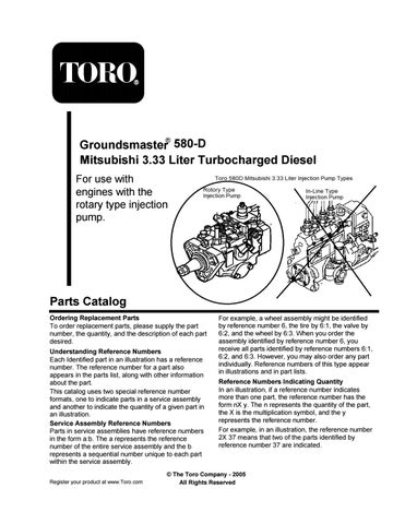 �� groundsmaster 580-d mitsubishi 3 33 liter turbocharged diesel