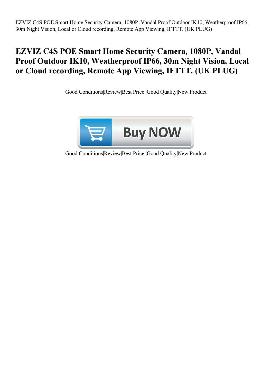 EZVIZ C4S POE Smart Home Security Camera 1080P Vandal Proof