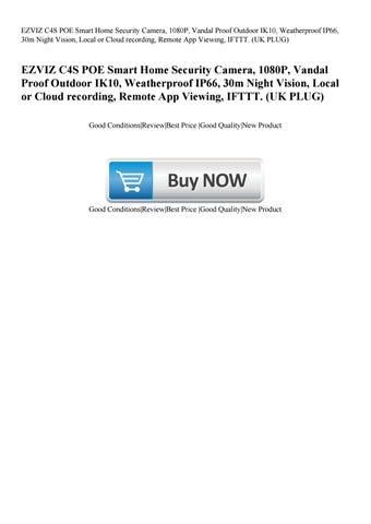EZVIZ C4S POE Smart Home Security Camera 1080P Vandal Proof Outdoor IK10  Weatherproof IP66 30m