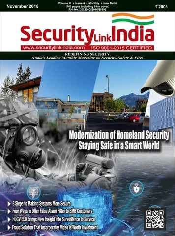 Securitylink India November 2018 Magazine by Security Link India - issuu